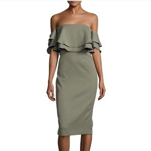 Keepsake the Label Off Shoulder Serenity Dress